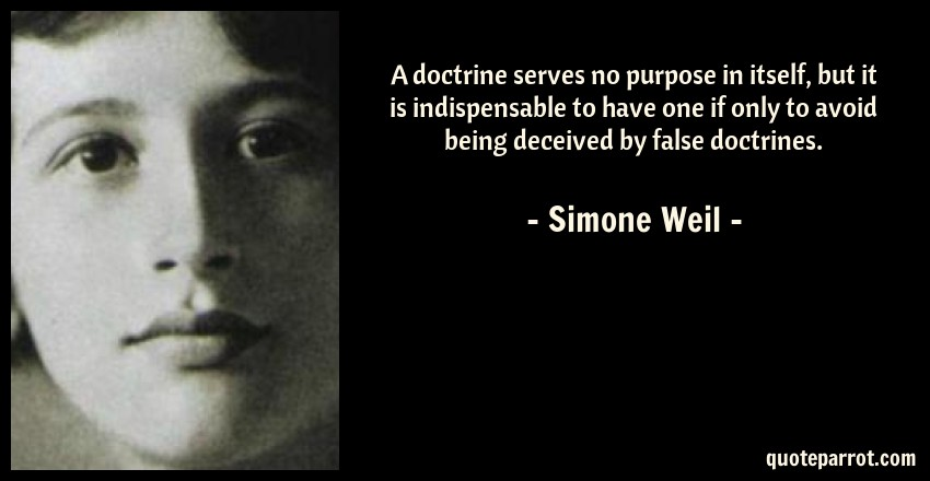 Image result for simone weil doctrine