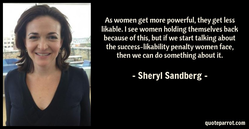 Image result for sheryl sandberg likability penalty