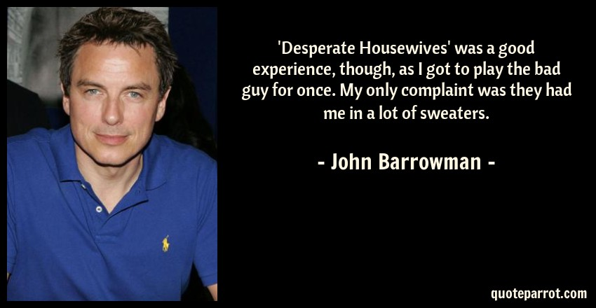 Think, john barrowman desperate housewives share your