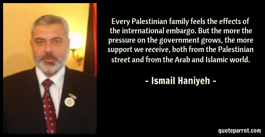 every palestinian family feels the effects of the inter by