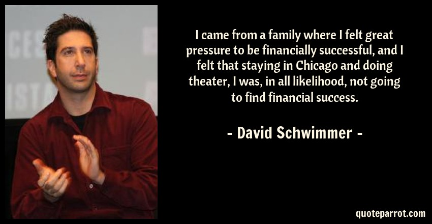 i came from a family where i felt great pressure to be by david