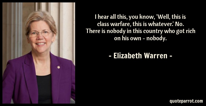 Image result for elizabeth warren class warfare