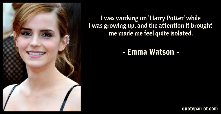 i was working on harry potter while i was growing up by emma