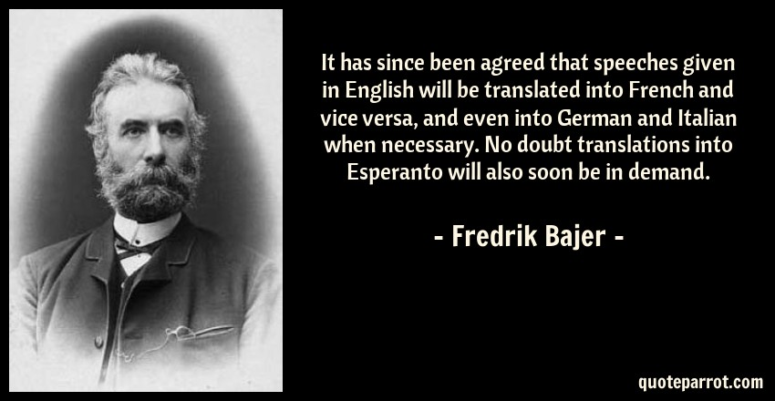 Translations Into Italian: It Has Since Been Agreed That Speeches Given In English