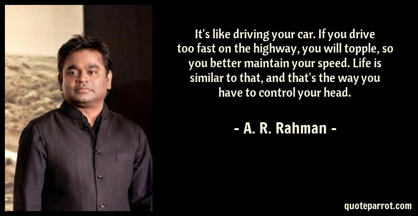 It S Like Driving Your Car If You Drive Too Fast On Th By A R