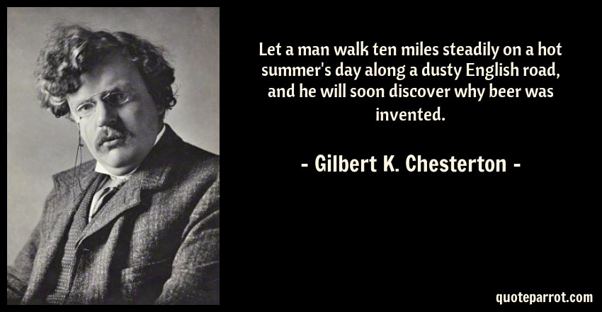 Let A Man Walk Ten Miles Steadily On A Hot Summers Day By