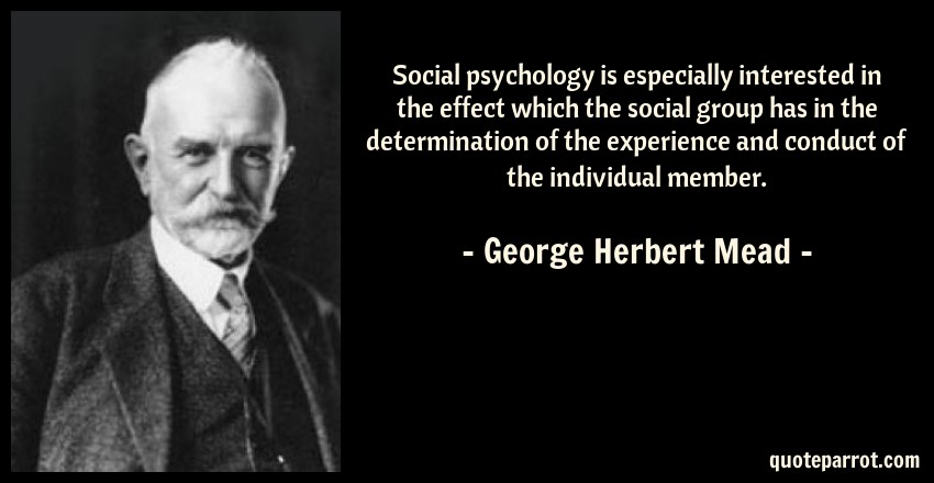 compare herbert mead and georg simmel Which reminds me of georg simmel which reminds of george herbert mead comparison within clarissa dalloway.