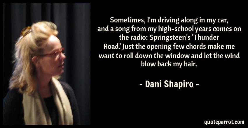 Sometimes, I\'m driving along in my car, and a song from... by Dani ...