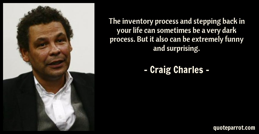 The Inventory Process And Stepping Back In Your Life Ca By Craig