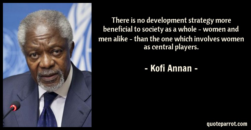There Is No Development Strategy More Beneficial To Soc