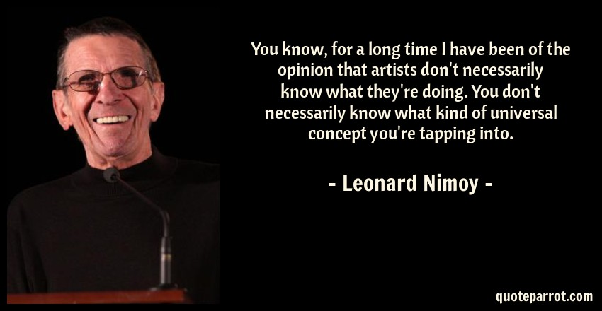Leonard Nimoy Quotes Captivating You Know For A Long Time I Have Been Of The Opinion Th