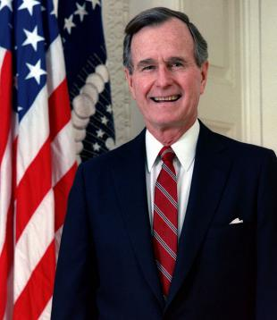 Picture of quotation author George H. W. Bush
