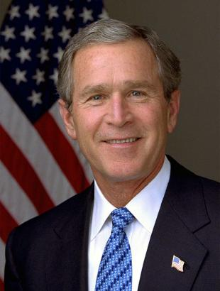 Picture of quotation author George W. Bush