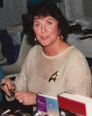 Picture of quotation author Majel Barrett