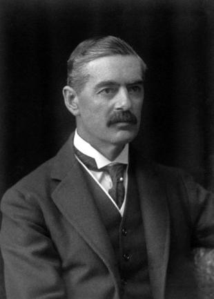 Picture of quotation author Neville Chamberlain