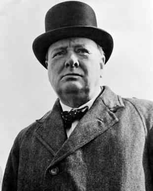 Picture of quotation author Winston Churchill