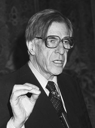 Picture of quotation author John Kenneth Galbraith