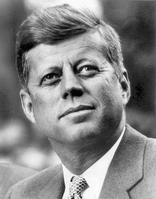 Picture of quotation author John F. Kennedy