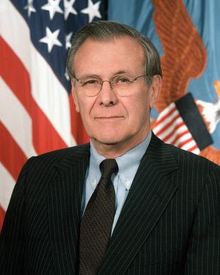 Picture of quotation author Donald Rumsfeld