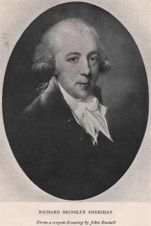 Picture of quotation author Richard Brinsley Sheridan