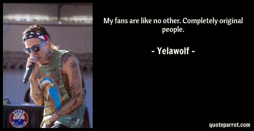 Yelawolf Quote: My fans are like no other. Completely original people.
